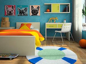 Pop-art z bulldogami - nowoczesny obraz na płótnie - zdjęcie od VAKU-DSGN
