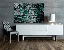 W cieniu turkusowego drzewa - nowoczesny obraz na płótnie - zdjęcie od VAKU-DSGN