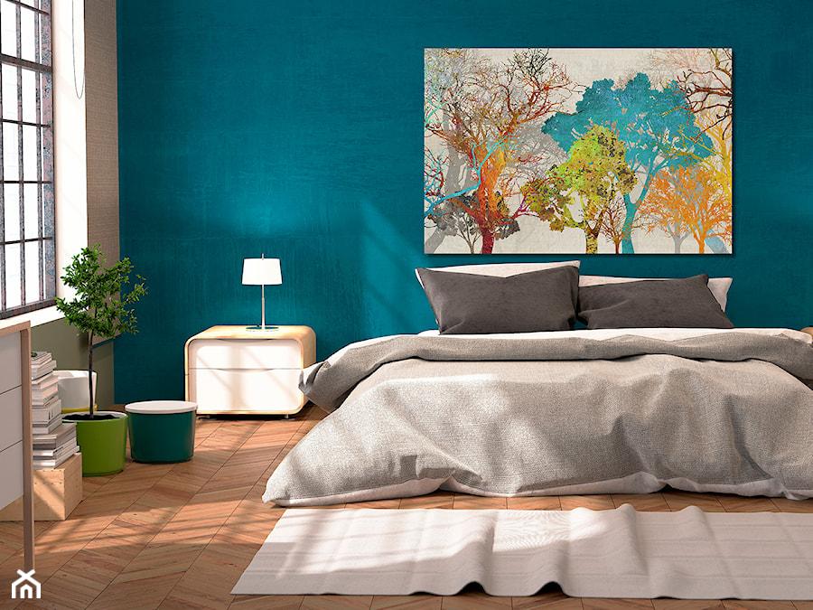 Aranżacje wnętrz - Sypialnia: Energia barw - nowoczesny obraz na płótnie - VAKU-DSGN. Przeglądaj, dodawaj i zapisuj najlepsze zdjęcia, pomysły i inspiracje designerskie. W bazie mamy już prawie milion fotografii!