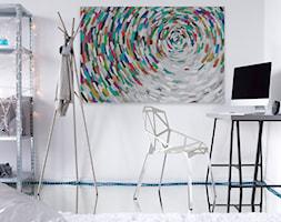 Alabastrowa tafla - nowoczesny obraz na płótnie - zdjęcie od VAKU-DSGN