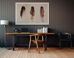 Lekkość ptasich piór - nowoczesny obraz na płótnie - zdjęcie od VAKU-DSGN