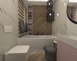 ŁAZIENKI - Średnia łazienka w bloku w domu jednorodzinnym bez okna, styl nowoczesny - zdjęcie od LABROOM kreatywne studio projektowania wnętrz - Homebook