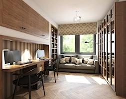 dom z elementami prowansalskimi - Średnie białe biuro domowe kącik do pracy w pokoju, styl prowansalski - zdjęcie od Pracownia Wielkie Rzeczy