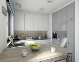 industrialnie na 48m2 - Średnia otwarta kuchnia w kształcie litery g, styl industrialny - zdjęcie od Pracownia Wielkie Rzeczy