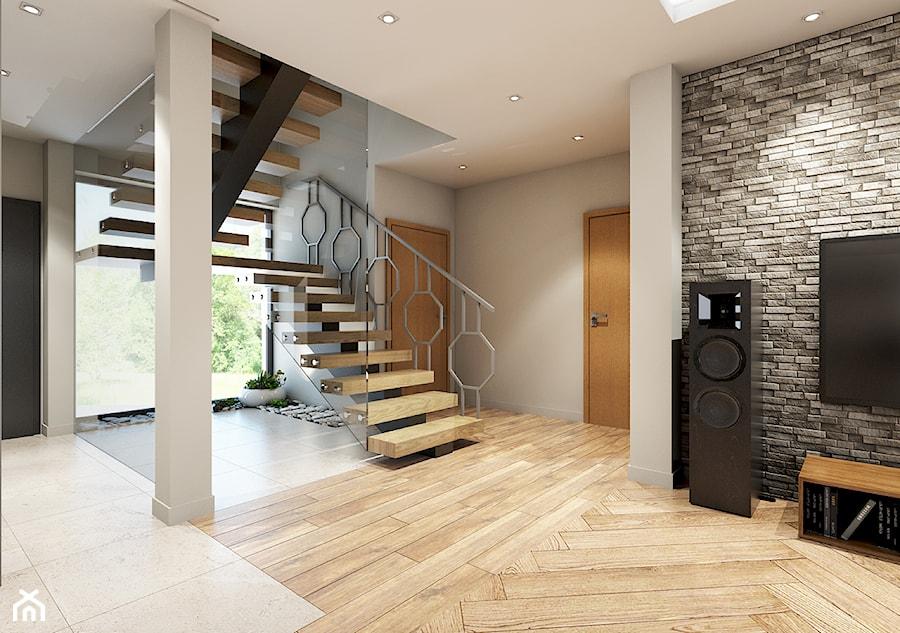 dom z elementami prowansalskimi - Hol / przedpokój, styl nowoczesny - zdjęcie od Pracownia Wielkie Rzeczy