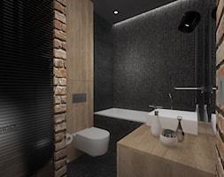 Mieszkanie w Warszawie - Średnia łazienka w bloku w domu jednorodzinnym bez okna, styl industrialny - zdjęcie od Pracownia Wnętrz Trojanowscy