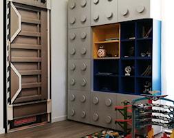 REALIZACJA -DOM POD BYDGOSZCZĄ - Mały biały pokój dziecka dla chłopca dla dziewczynki dla malucha, styl nowoczesny - zdjęcie od Pracownia Wnętrz Trojanowscy