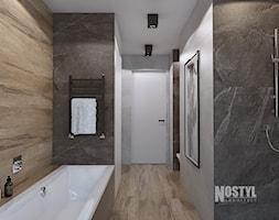 INTERIOR [ 01 ] 2019 - Średnia czarna szara łazienka w bloku w domu jednorodzinnym bez okna, sty ... - zdjęcie od Manufaktura Projektów - Homebook