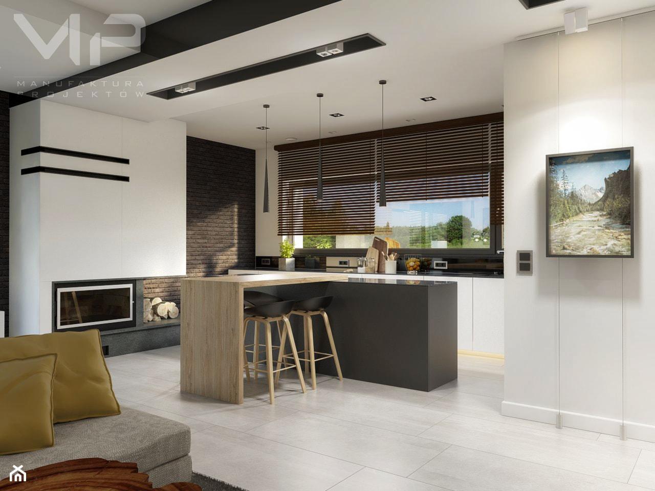 INTERIOR | Dom w Rudach - Średnia otwarta kuchnia z wyspą, styl nowoczesny - zdjęcie od Manufaktura Projektów - Homebook