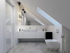 BATHROOM I 4 I 2018 - Średnia łazienka na poddaszu, styl minimalistyczny - zdjęcie od Manufaktura Projektów