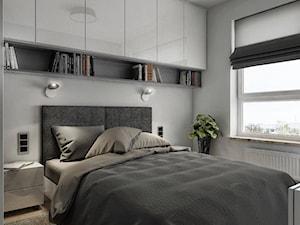 INTERIOR | Mieszkanie M3 - Warszawa - Średnia szara sypialnia małżeńska, styl nowoczesny - zdjęcie od Manufaktura Projektów
