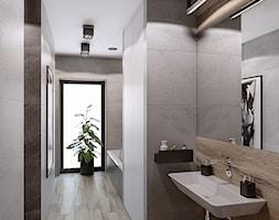 INTERIOR [ 01 ] 2019 - Duża czarna łazienka w bloku w domu jednorodzinnym z oknem, styl nowoczes ... - zdjęcie od Manufaktura Projektów - Homebook