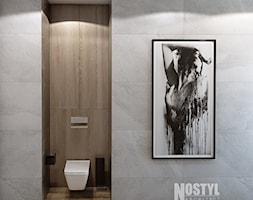 INTERIOR [ 01 ] 2019 - Średnia szara łazienka w bloku w domu jednorodzinnym bez okna, styl nowoc ... - zdjęcie od Manufaktura Projektów - Homebook