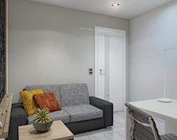 INTERIOR | Dom w Rudach - Średnie szare biuro kącik do pracy w pokoju, styl nowoczesny - zdjęcie od Manufaktura Projektów
