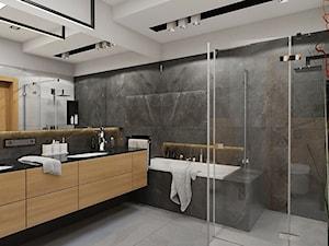BATHROOM I 5 I 2018 - Średnia łazienka w bloku w domu jednorodzinnym bez okna, styl nowoczesny - zdjęcie od Manufaktura Projektów