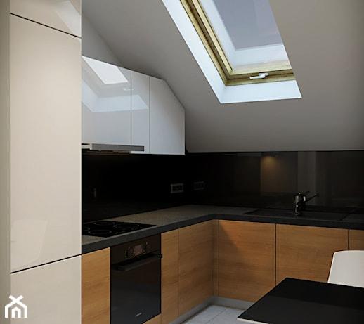 Interior Poddasze średnia Otwarta Zamknięta Kuchnia W