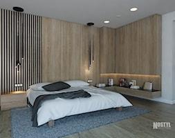 INTERIOR [ 01 ] 2019 - Duża szara sypialnia małżeńska, styl nowoczesny - zdjęcie od Manufaktura Projektów - Homebook