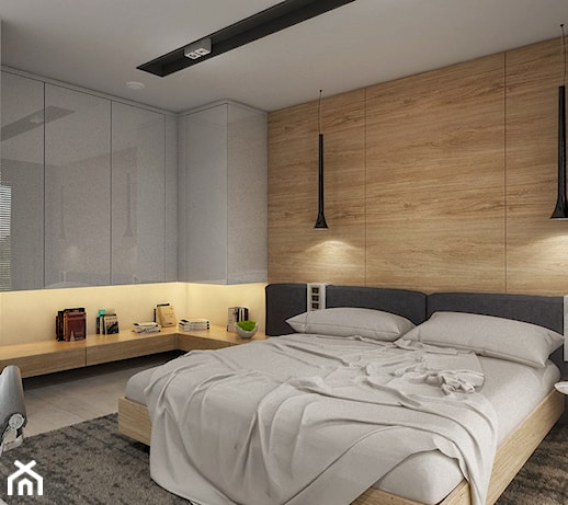 D Interiors Mała Sypialnia: Dom W Rudach - Średnia Sypialnia Małżeńska