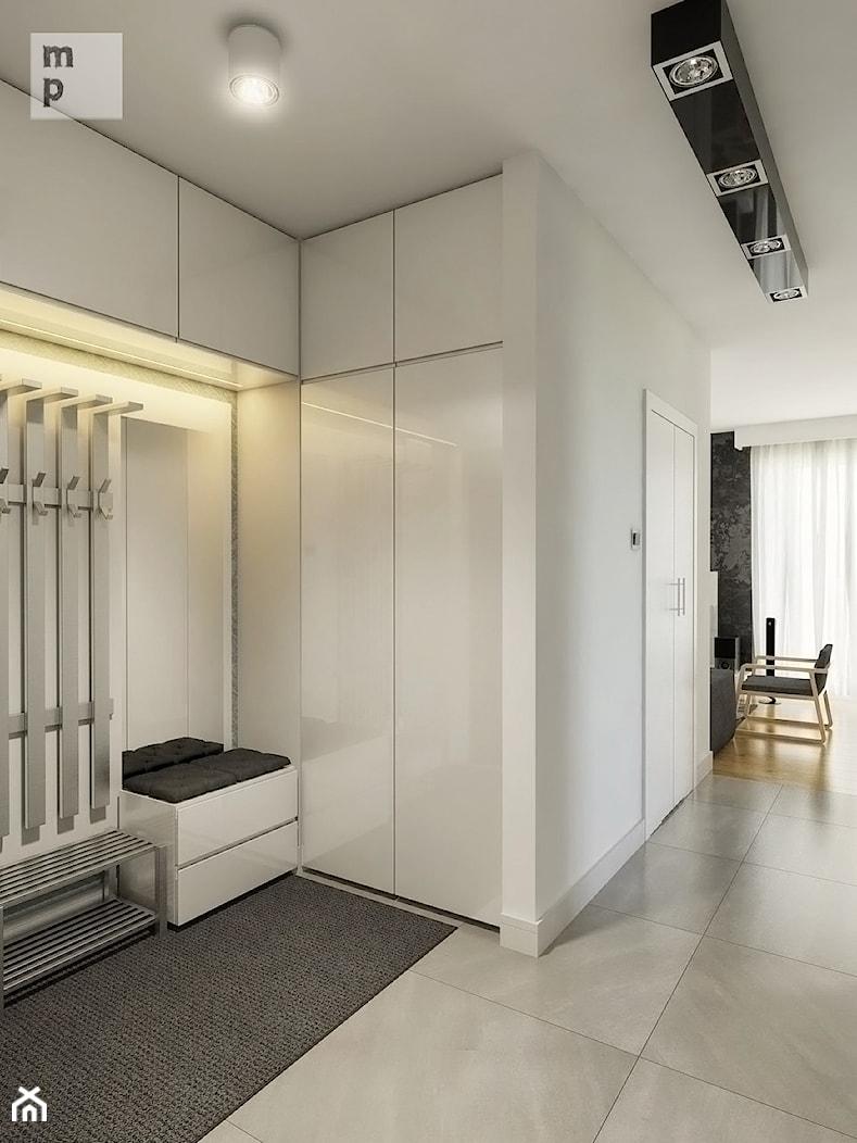 INTERIOR | Mieszkanie - Warszawa - Średni biały hol / przedpokój, styl nowoczesny - zdjęcie od Manufaktura Projektów - Homebook