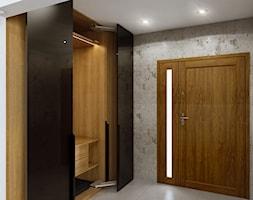 Dom na przedmieściach - Średni szary hol / przedpokój, styl nowoczesny - zdjęcie od Manufaktura Projektów