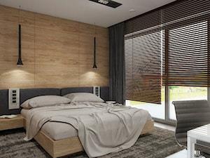 INTERIOR | Dom w Rudach - Średnia sypialnia małżeńska z balkonem / tarasem, styl nowoczesny - zdjęcie od Manufaktura Projektów