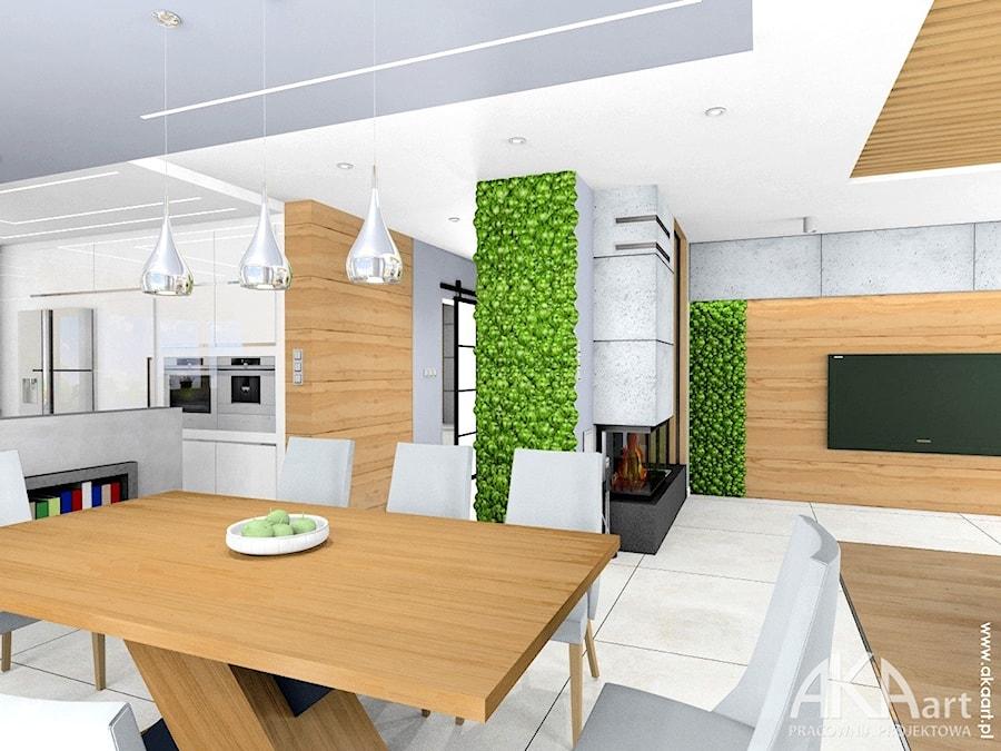 Nowoczesne wnętrza domu w Gliwicach - Jadalnia, styl nowoczesny - zdjęcie od AKAart Pracownia Projektowa