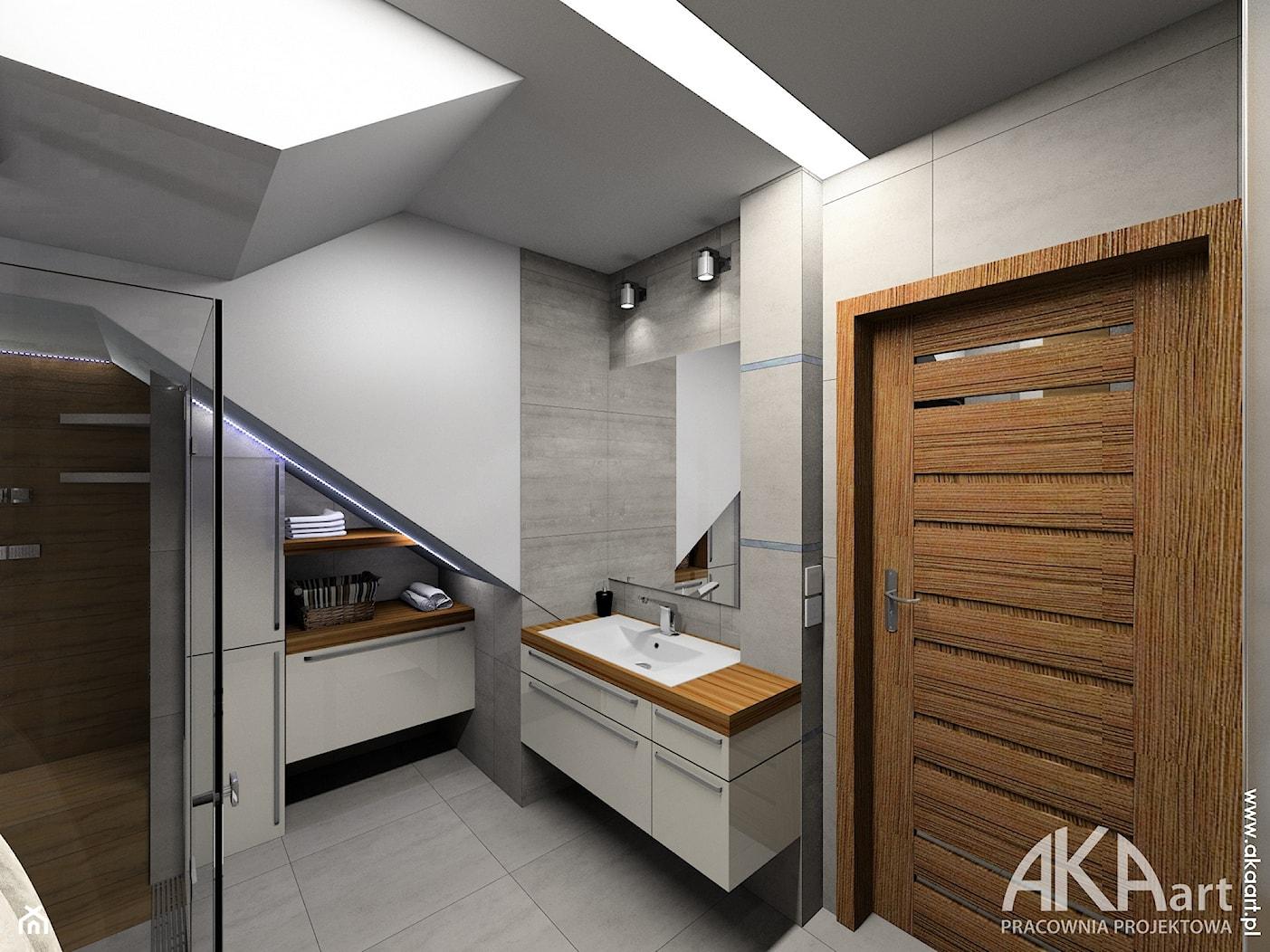 Aranżacja łazienki Kraków wersja 2 - Łazienka, styl nowoczesny - zdjęcie od AKAart Pracownia Projektowa - Homebook