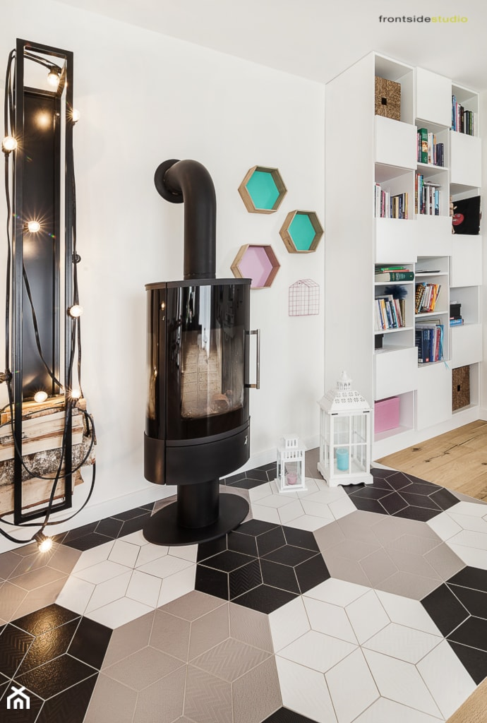 Dom jednorodzinny w Redzie - Salon, styl skandynawski - zdjęcie od PracowniaPolka - Homebook