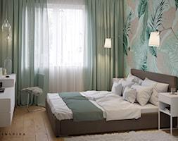 Przytulne m4 na Pradze - Średnia biała sypialnia małżeńska, styl nowoczesny - zdjęcie od Inspira Design