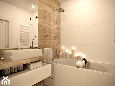 Aranżacje wnętrz - Łazienka: Sielankowa Prowansja - Mała biała beżowa łazienka w bloku w domu jednorodzinnym bez okna, styl klasyczny - Inspira Design. Przeglądaj, dodawaj i zapisuj najlepsze zdjęcia, pomysły i inspiracje designerskie. W bazie mamy już prawie milion fotografii!
