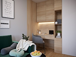 Dobrze się układa...;) - Małe szare biuro kącik do pracy w pokoju, styl nowoczesny - zdjęcie od Inspira Design