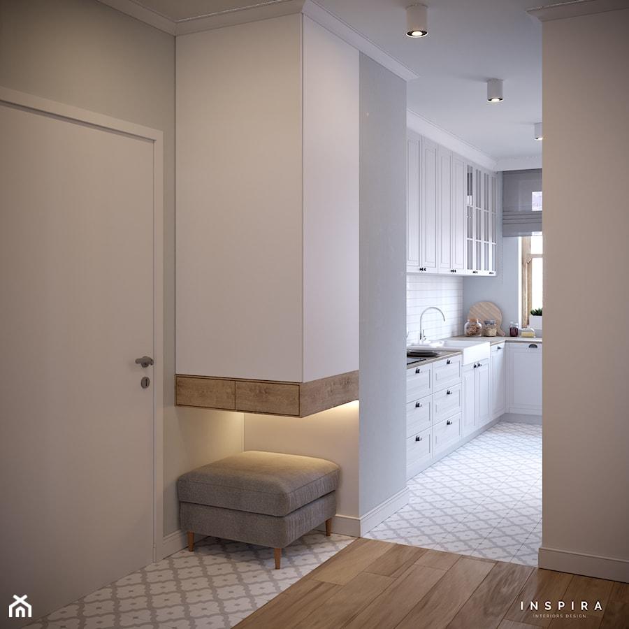 Sielankowa Prowansja - Średni szary hol / przedpokój, styl prowansalski - zdjęcie od Inspira Design