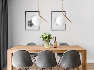 Zielona elegancja - Średnia biała jadalnia, styl nowoczesny - zdjęcie od Studio Projekt