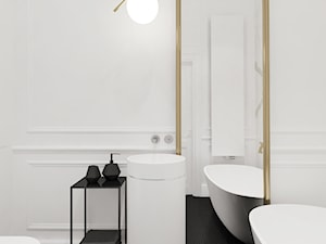 Mieszkanie w warszawskiej kamienicy - Średnia biała łazienka, styl klasyczny - zdjęcie od Ewelina Witkowska Architektura Wnętrz