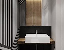 Projekt nr 3 - Mała biała łazienka w bloku w domu jednorodzinnym bez okna, styl nowoczesny - zdjęcie od Ewelina Witkowska Architektura Wnętrz