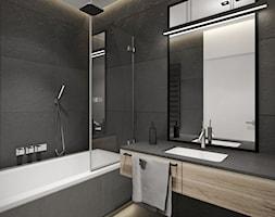 Projekt nr 9 - Średnia szara łazienka w bloku bez okna, styl nowoczesny - zdjęcie od Ewelina Witkowska Architektura Wnętrz