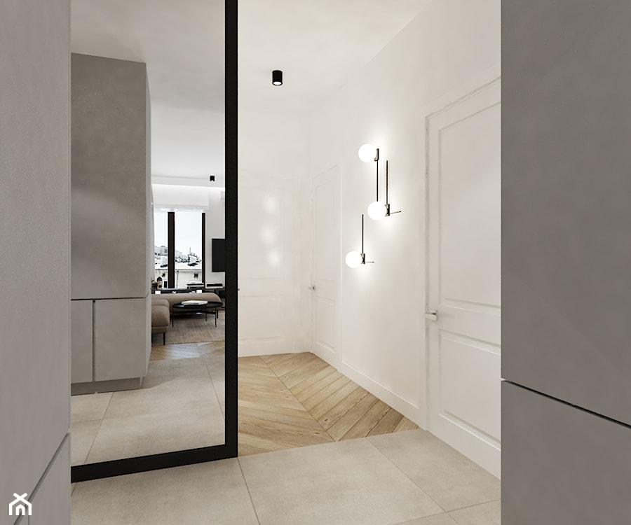 Projekt na warszawskiej Woli - Hol / przedpokój, styl nowoczesny - zdjęcie od Ewelina Witkowska Architektura Wnętrz