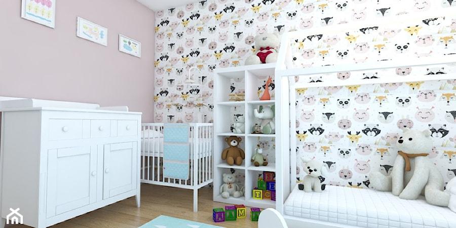 Aranżacje wnętrz - Pokój dziecka: Pokój niemowlaka w bloku w Głogowie - Michał Ślusarczyk. Przeglądaj, dodawaj i zapisuj najlepsze zdjęcia, pomysły i inspiracje designerskie. W bazie mamy już prawie milion fotografii!