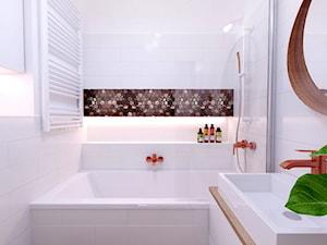 łazienka z armaturą w kolorze różowego złota - zdjęcie od Michał Ślusarczyk