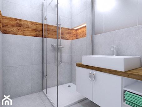 Aranżacje wnętrz - Łazienka: łazienka w bloku w Głogowie - Michał Ślusarczyk. Przeglądaj, dodawaj i zapisuj najlepsze zdjęcia, pomysły i inspiracje designerskie. W bazie mamy już prawie milion fotografii!