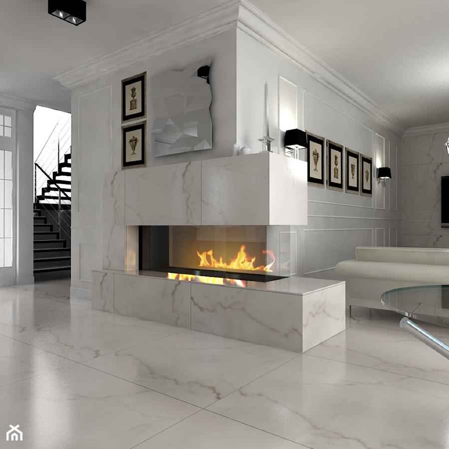 kominek w salonie - zdjęcie od Michał Ślusarczyk