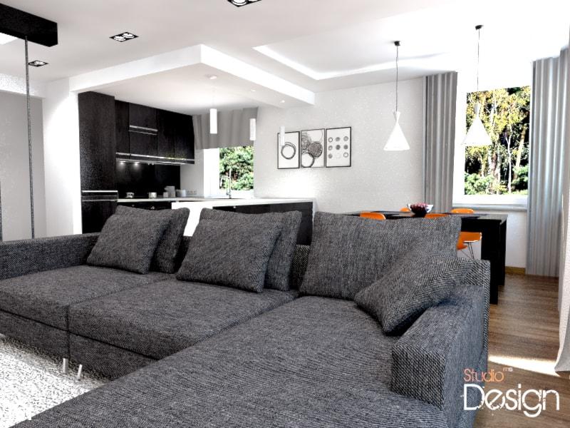 salon w stylu nowoczesnym dla projektu willa Julia II - zdjęcie od Michał Ślusarczyk - Homebook
