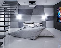 sypialnia z betonem architektonicznym - zdjęcie od Michał Ślusarczyk
