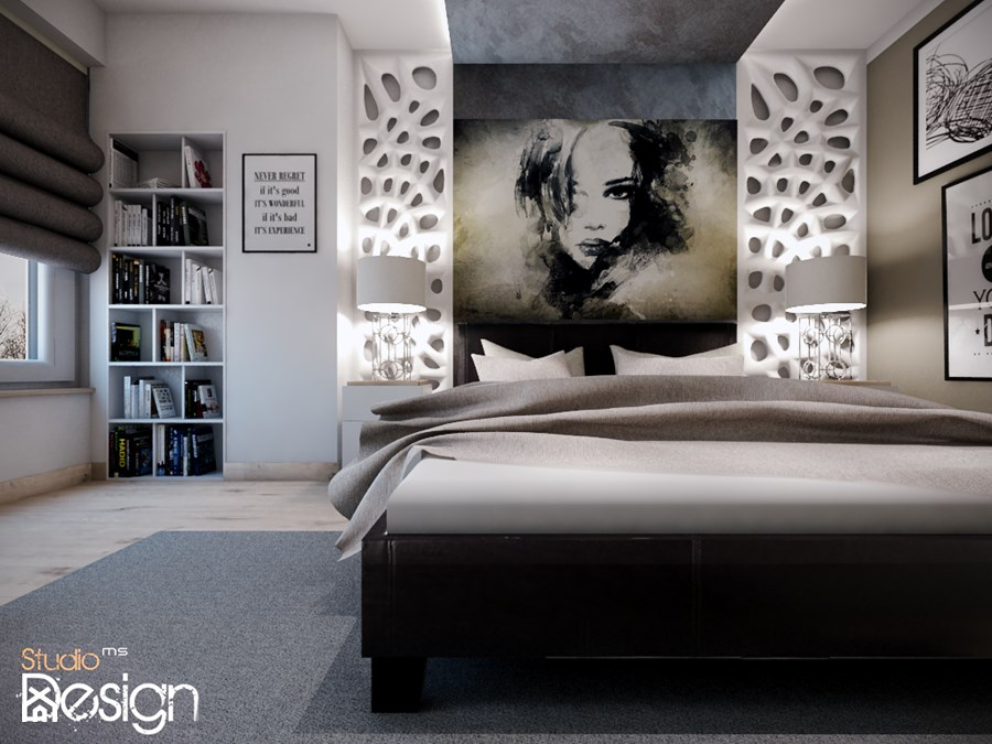 sypialnia w stylu nowoczesnym - zdjęcie od Michał ...