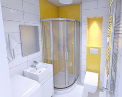 aranżacja łazienki 2,5 m2 w kawalerce 24 m2 - zdjęcie od Michał Ślusarczyk
