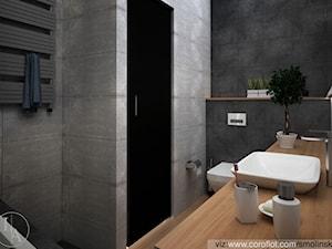 Frozen Garden bathroom - Mała szara łazienka w bloku bez okna, styl minimalistyczny - zdjęcie od Inter Adore