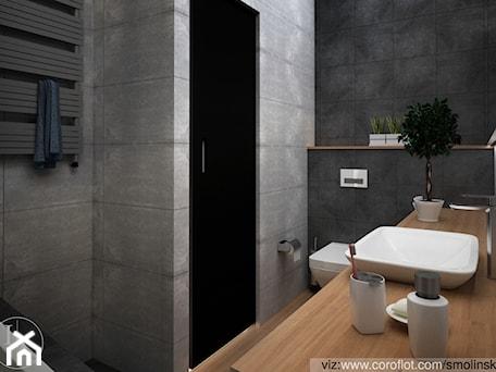 Aranżacje wnętrz - Łazienka: Frozen Garden bathroom - Mała szara łazienka w bloku bez okna, styl minimalistyczny - Inter Adore. Przeglądaj, dodawaj i zapisuj najlepsze zdjęcia, pomysły i inspiracje designerskie. W bazie mamy już prawie milion fotografii!