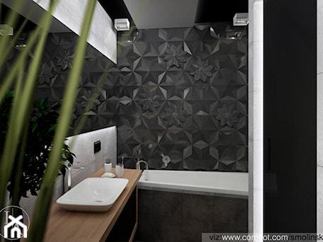 Aranżacje wnętrz - Łazienka: Frozen Garden bathroom - Średnia szara łazienka w bloku bez okna, styl minimalistyczny - Inter Adore. Przeglądaj, dodawaj i zapisuj najlepsze zdjęcia, pomysły i inspiracje designerskie. W bazie mamy już prawie milion fotografii!
