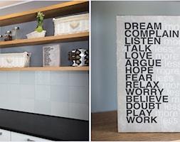 Mieszkanie K - Otwarta kuchnia jednorzędowa w aneksie, styl nowoczesny - zdjęcie od Inter Adore - Homebook
