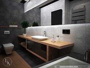 Frozen Garden bathroom - Średnia biała szara łazienka, styl minimalistyczny - zdjęcie od Inter Adore